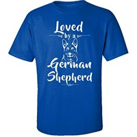 Print Tees Short Sleeve O-neck Gifts For German Shepherd Lovers Or Owners Loved By A Dog - Adult Shirt