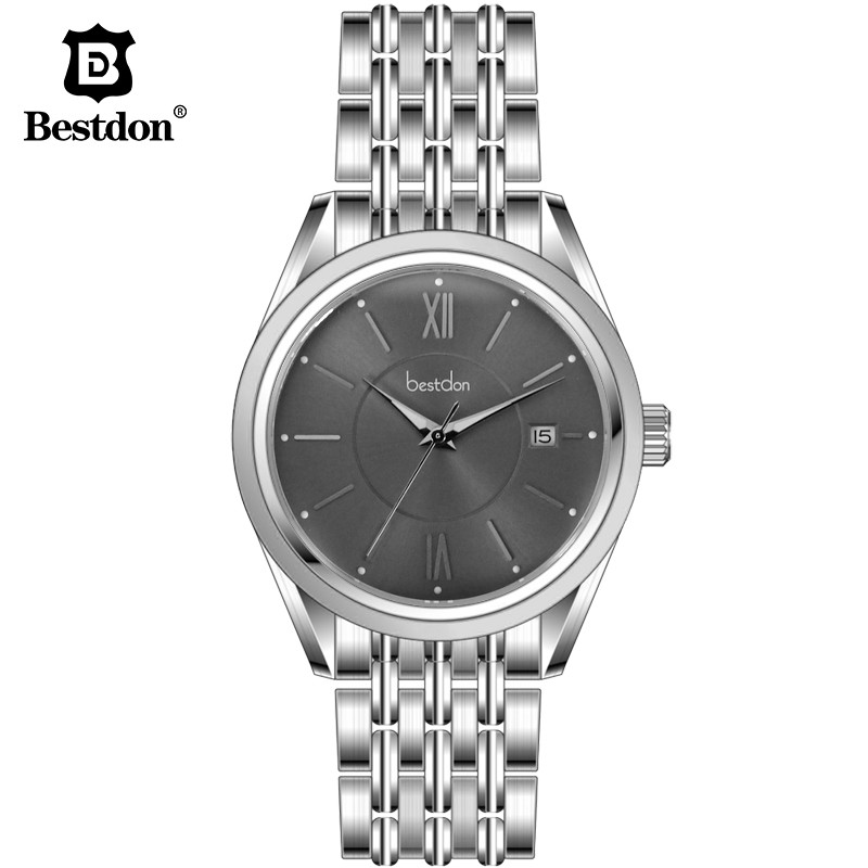 Bestdon Brand Watches Classic Mens AUTO Date automatic Mechanical Watch Self-Winding Analog Skeleton Steel Strap Man Wristwatch wilon all steel self winding mechanical wristwatch black silver