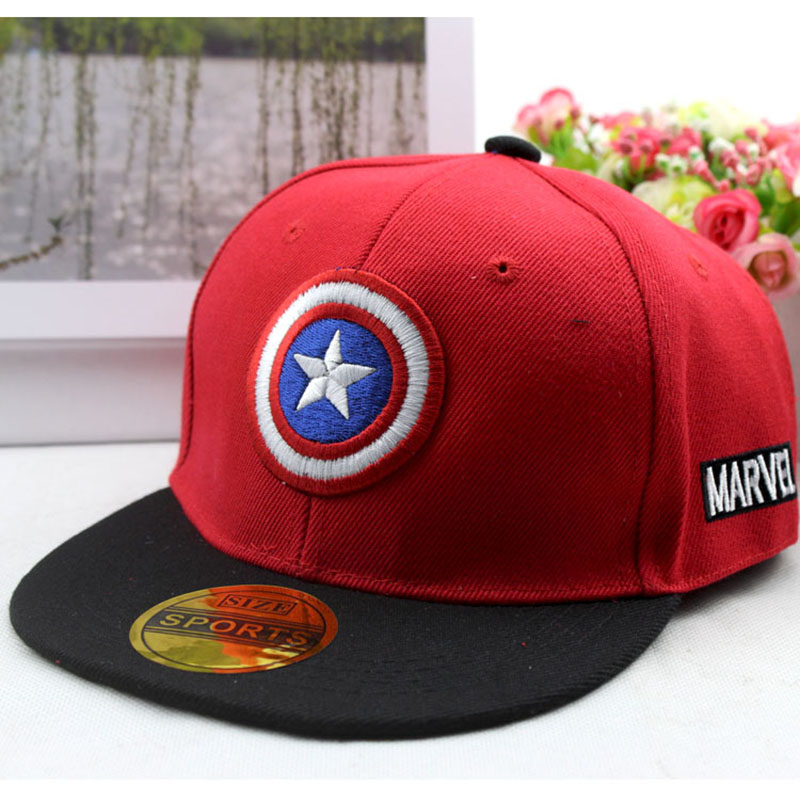 Anime Cartoon Captain America Pentagram Baseball Caps For Children Boy Sport Cap Hip Hop Hats Summer Sun Hat Outdoor Shade Cap summer can be folded anti uv sun hat sun protection for children to cover the sun with a large cap on the beach bike travel