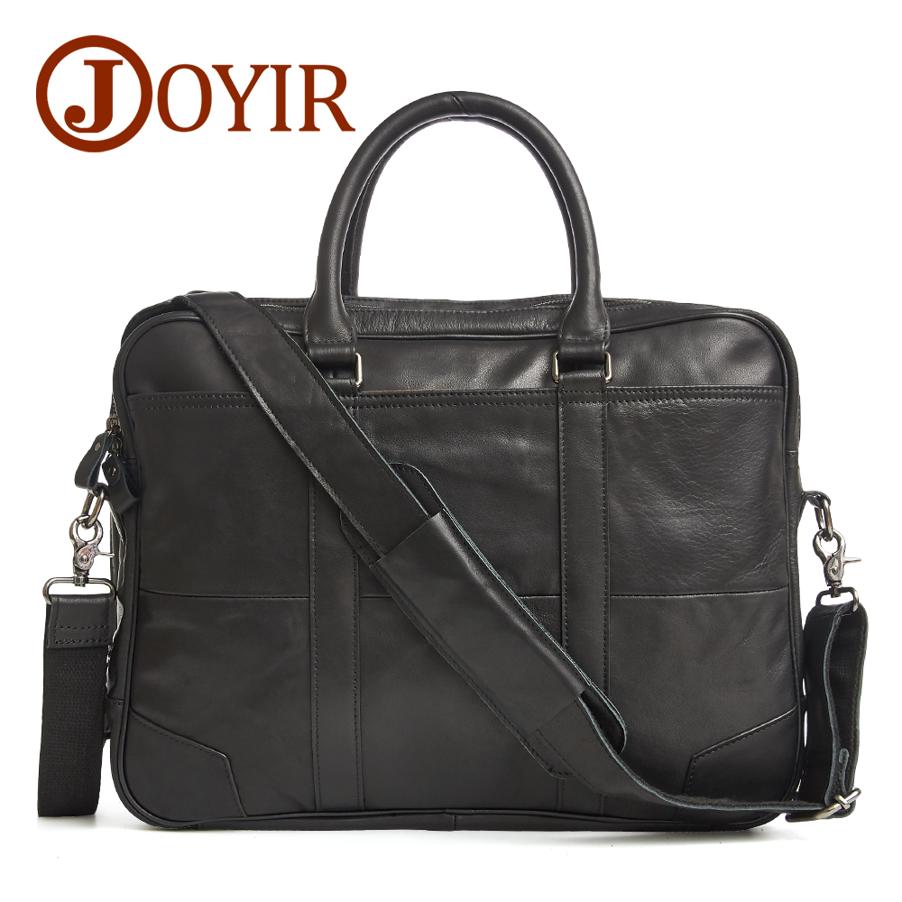 JOYIR Designer Briefcases Genuine Leather Handbag Business Men Bags Laptop Tote Crossbody Bags Shoulder Men's Messenger Bag