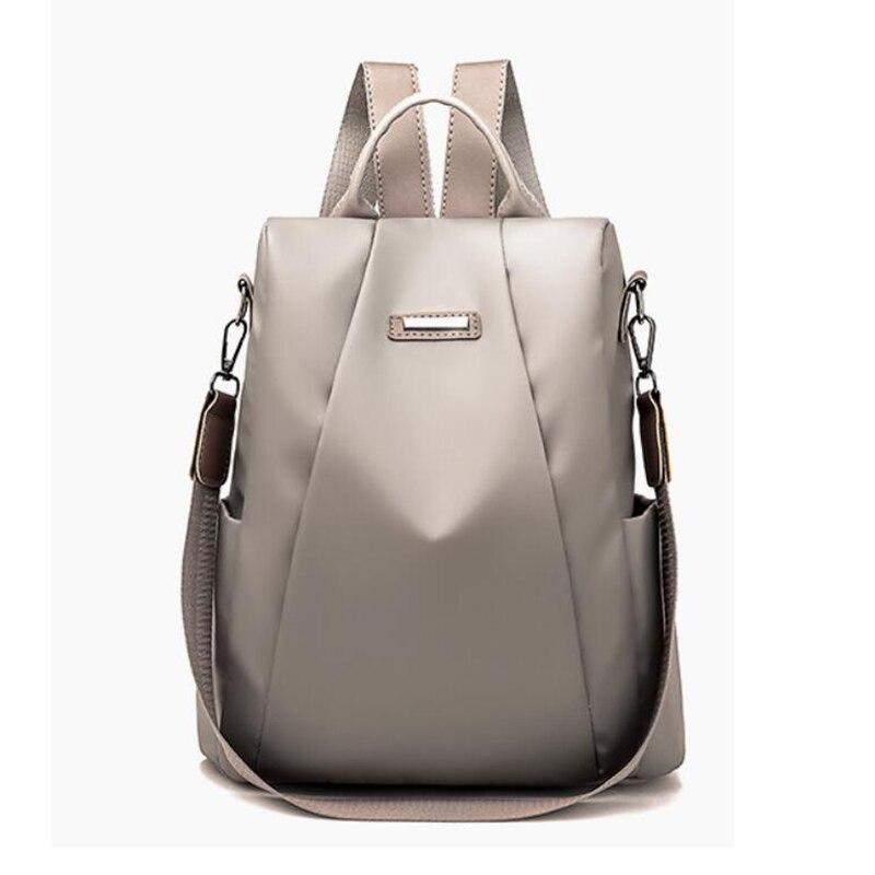HTB1uzVhXh rK1RkHFqDq6yJAFXa1 Fashion Laptop Backpack Nylon Charge Computer Backpack Anti-theft Waterproof Bag for Women Oxford cloth student bag Teenage