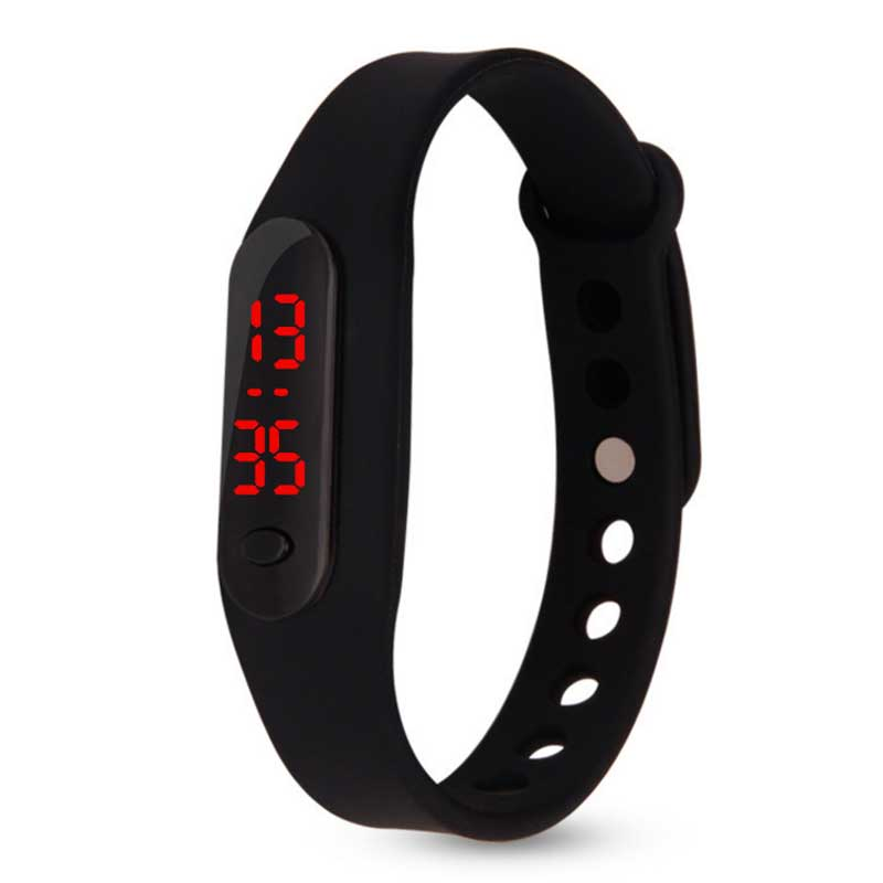 High Quality Cheap Children Digital Watch Color Boy Girl Sports Rubber LED Kids Watches For Student Gifts 12 Hours