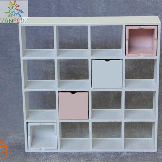 112 poppenhuis miniatuur meubels houten 16 pane boekenkast rekken kast c010 brinquedos