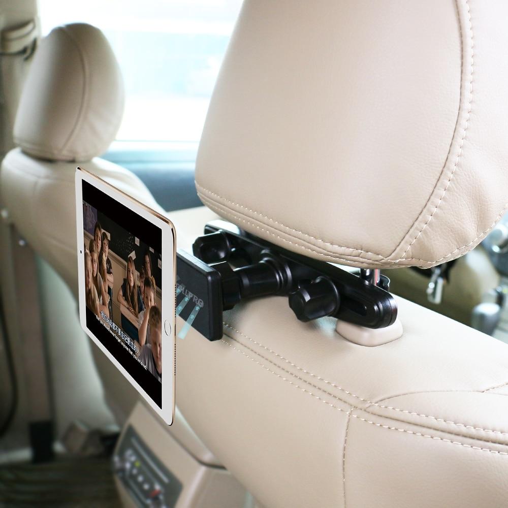 Magnetic car mount headrest tablet holder