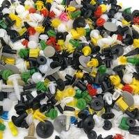 500PCS Mixed Color Plastic Car Door Trim Panel Clip Push Pin Rivets Bumper With Screwdriver Tool