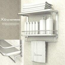 Бесплатно Shhipping Ванной ShelfTowel стойку пространство алюминия складной вешалка для полотенец полка ванной настенные стойки аксессуары для ванной комнаты