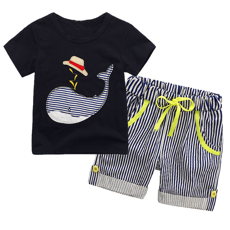 Summer Baby Boys Cartoon Clothes Sets Cotton Kids Short Sleeve Shirt Printed Children Clothing Girls Sport Suits 2 3 4 5 6 Years baby clothes for boys girls t shirt shorts suits clothing sets summer for the school kids children s clothing for boys 3 4 years