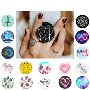 Pop Socket Marble Expanding Phone Stand Anti-Fall PopSocket Round Rotatable Mobile