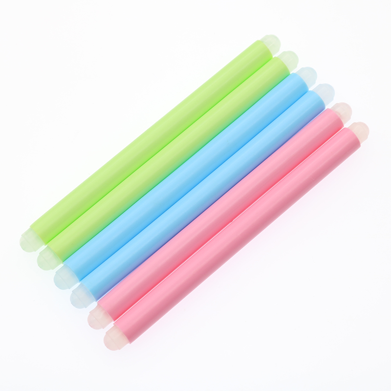 6pcs Cute Kawaii Erasable Pen Special Eraser Rubber Stick Blue Green Pink Optional Children'S Gift Stationery Office Supplies