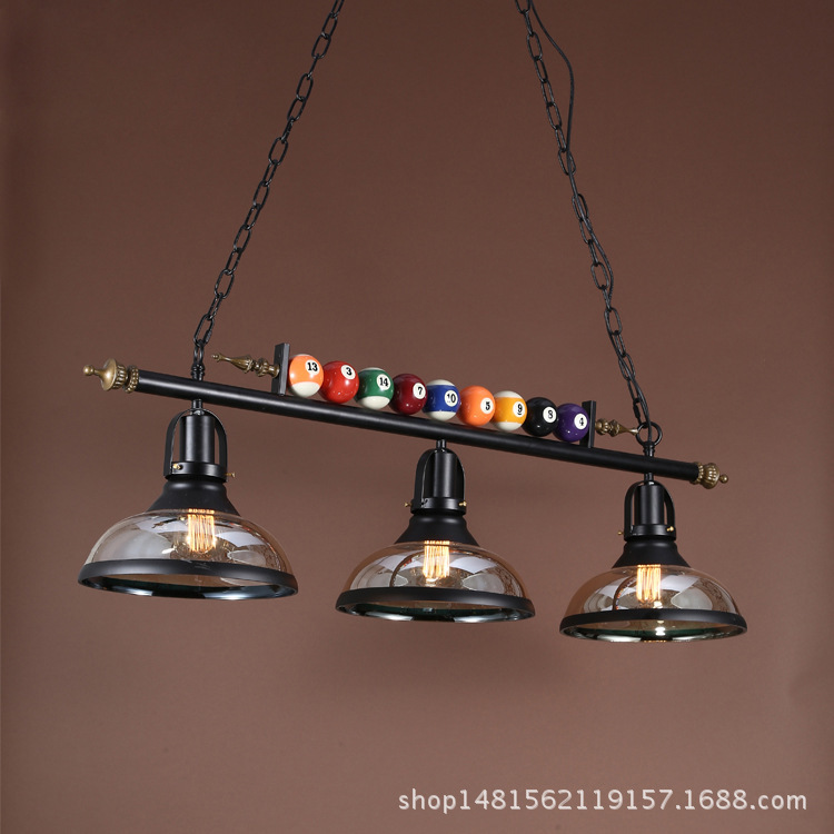 modern billiards iron pendant light glass iron dining room coffee shop bedroom restaurant hanging lighting free shipping modern brief pendant light iron and crystal restaurant lamp fashion lighting light fixture for dining room bedroom