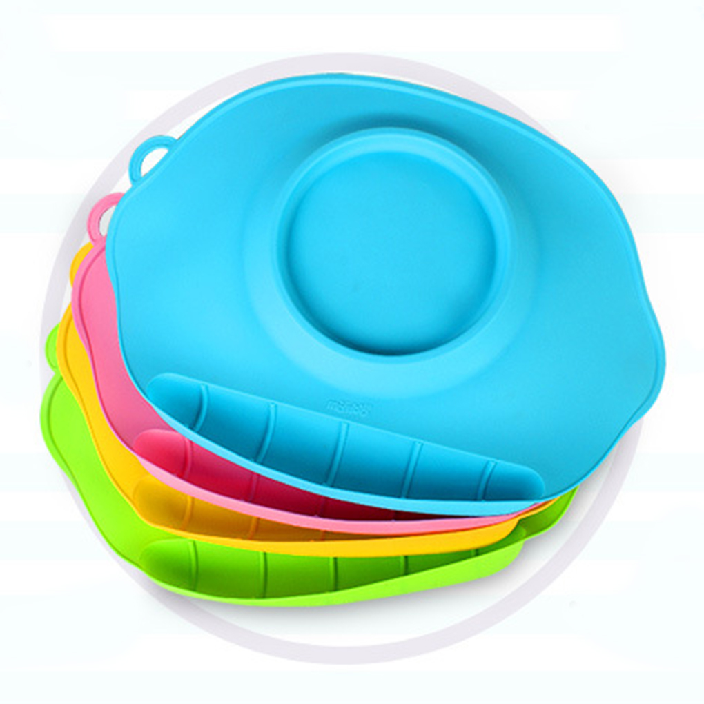 Silicone Feeding Food Plate Tray Dishes Food Holder for Baby Infant Toddler Kids Children Feeding Supplies Baby Plate Children