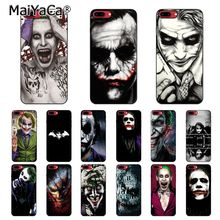 MaiYaCa Funny Clown Batman joker Phone Case For iphone 11 Pro 11Pro Max 6S 6plus 7 7plus 8 8Plus X Xs MAX 5 5S XR black with white moon stars space astronaut phone case shell for iphone 6s 6plus 7 7plus 8 8plus x xs max 5 5s xr 11pro max