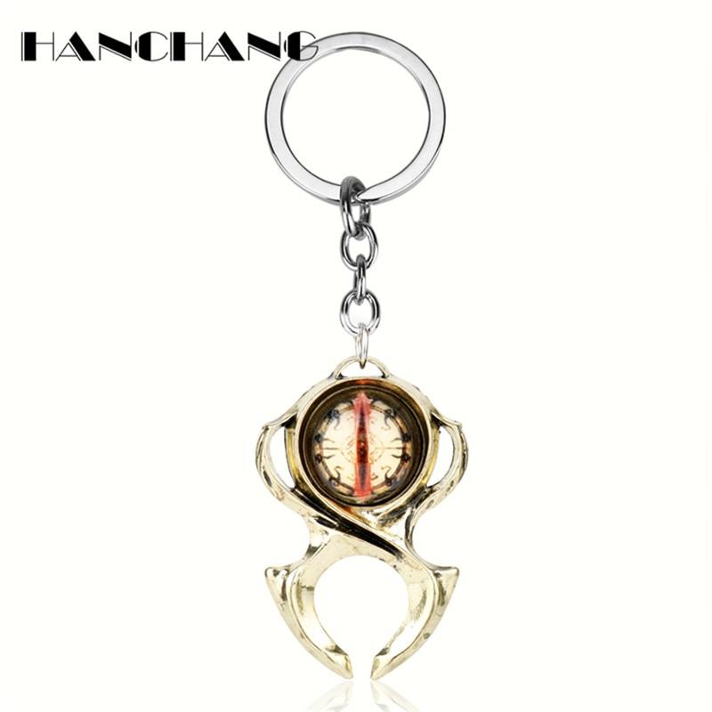 HANCHANG Diablo 3 Watchmen Guardian Horadrims Amulet Key Chains Keychain Personalised Keyrings