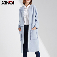XIKOI Winter Coat Women Long Cardigans Coat Full sleeve Knitted Cardigan Women Long Sweater Female Open Stitch Thick Sweaters