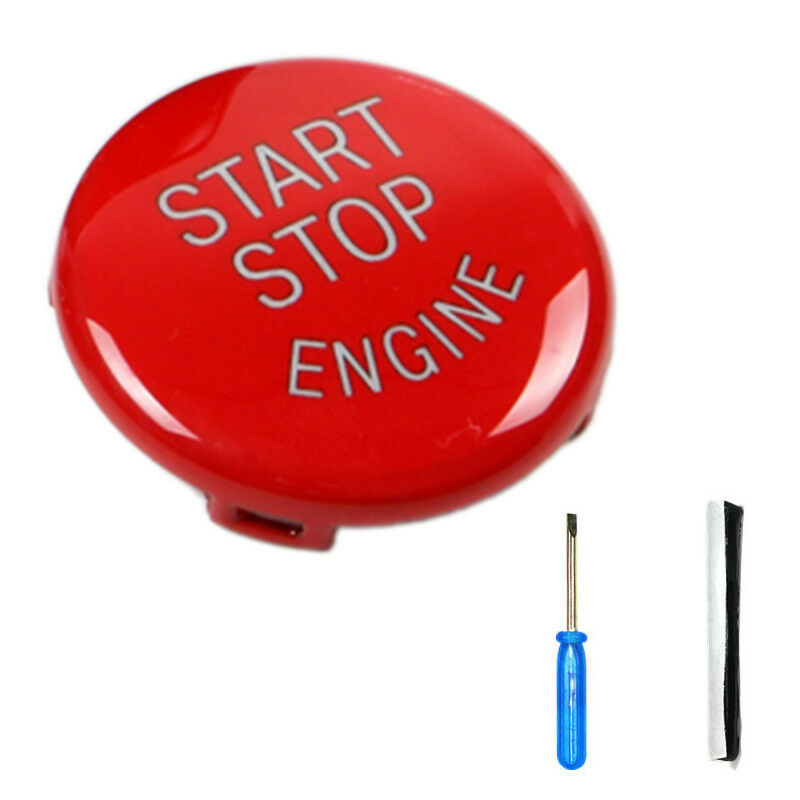 Engine Start Stop Switch Red Button Cover for BMW E90/E91/E92/E93 2005-2011 3 Series image