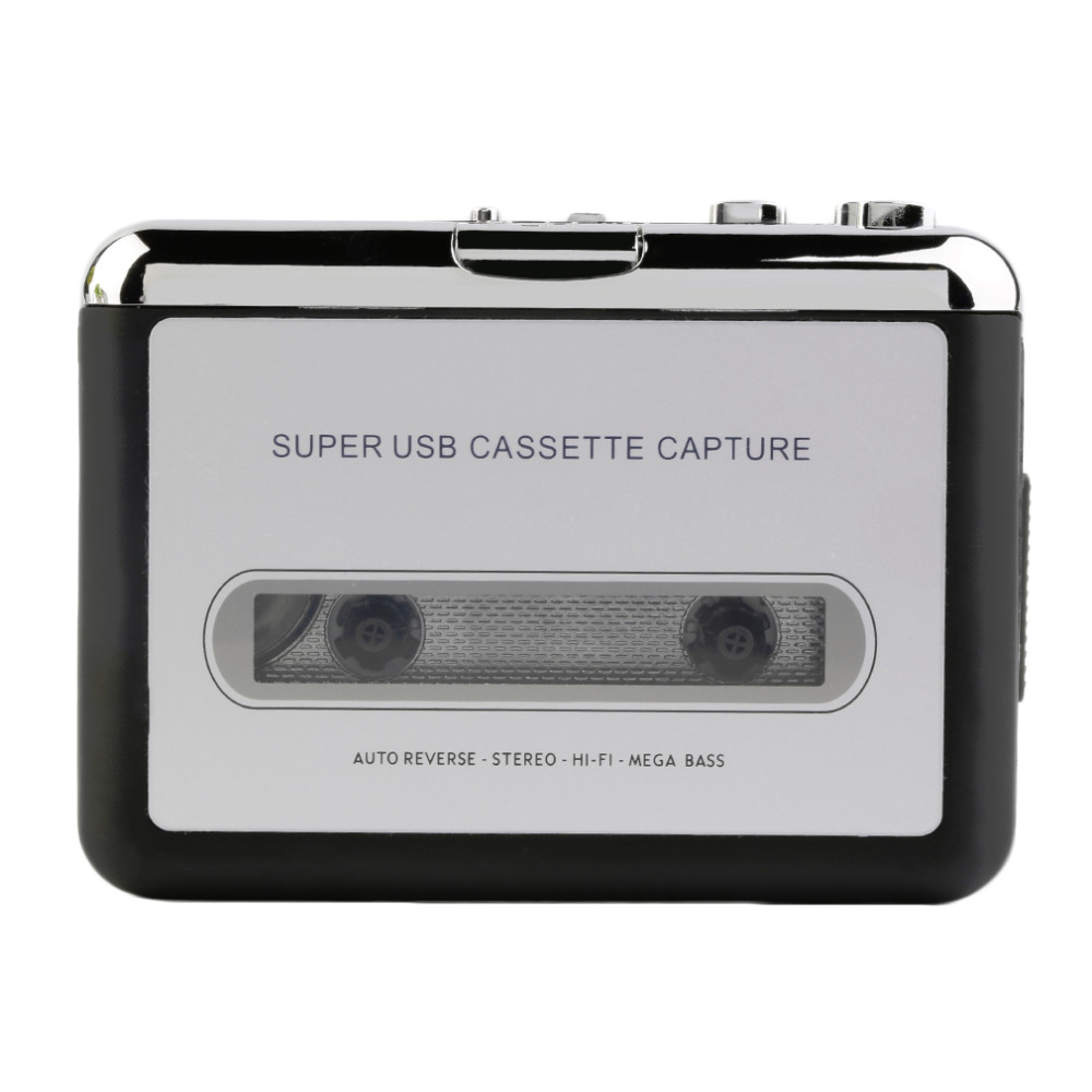 Tape to PC Super USB Cassette-to-MP3 Converter Capture Audio Music Player NEW title=