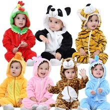 цены Baby Rompers Baby Girl Clothes Kigurumi Kids Onesie Anime Cosplay Costume New Born Boy Pajama Hooded Flannel Warm Soft Jumpsuit