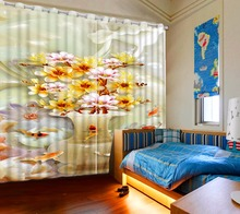 chinese luxury curtains 3d marble flower curtains for bedroom modern hotel drapes cortinas para sale
