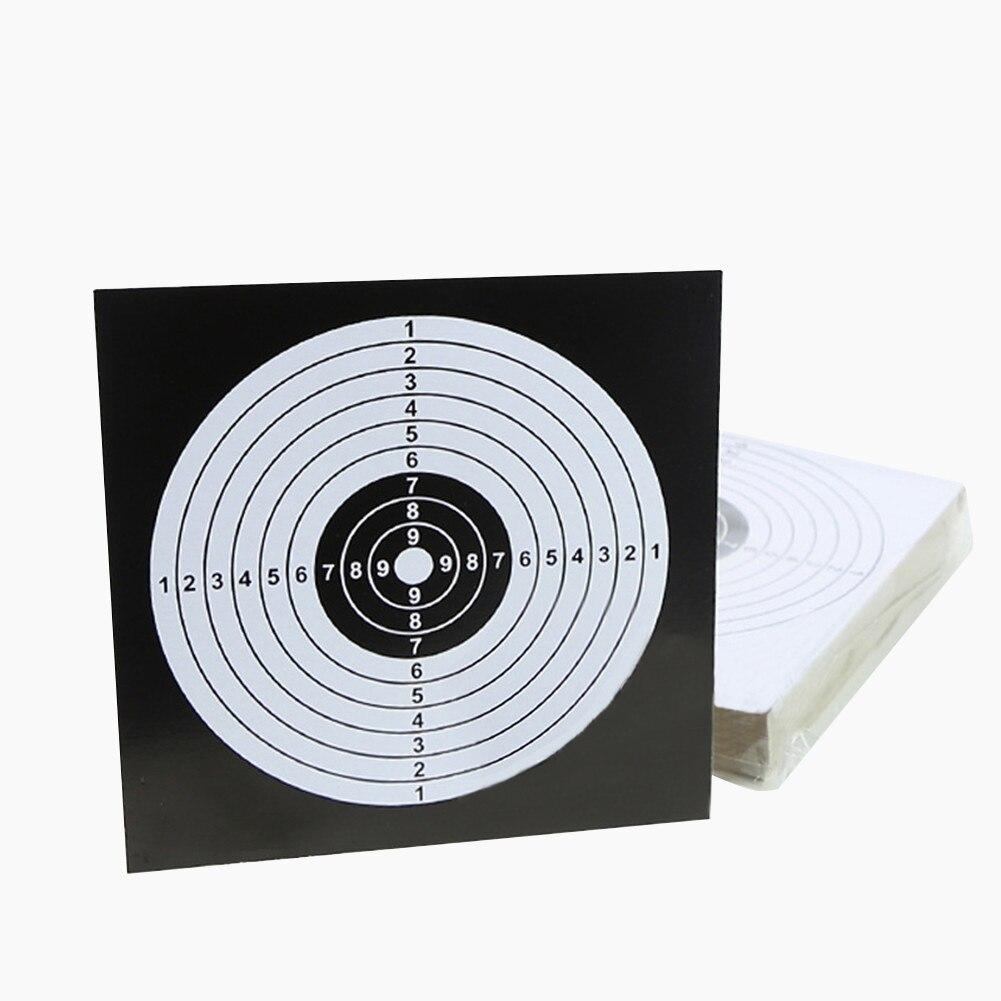 100pcs Target Sheet Paper 14x14cm Archery Arrow Target Training Paper Card Shooting Hunting Practice