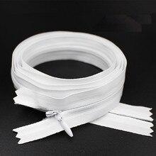 1 шт. 3#100 см 1 метр длиной невидимые молнии белого цвета DIY нейлоновая катушка молния для шитья одежды инструмент портного