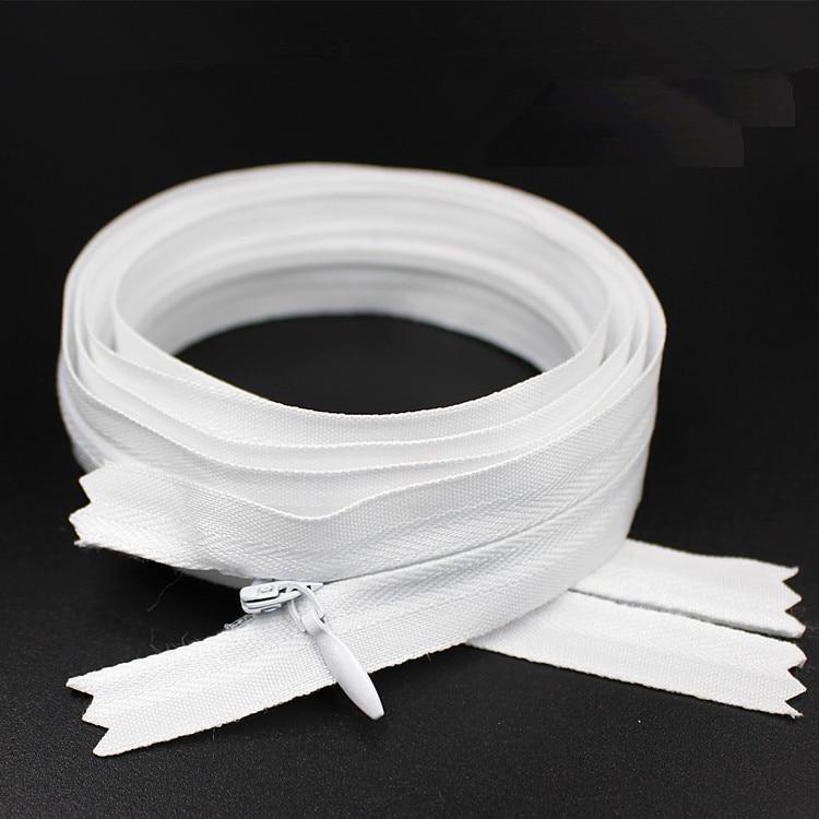 1 шт., 3 #100 см, 1 метр, Длинные невидимые молнии, белый цвет, сделай сам, нейлоновая катушка, молния для шитья, инструмент портного белья