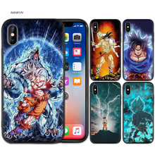 Black Rubber Soft Silicone Case Bag Cover for iPhone XS XR X 7 8 6 6S 5C 5E 5S 5 Plus Max Shell Fundas Goku Dragon Ball Super Z(China)