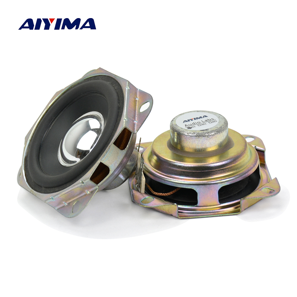 Aiyima 2Pcs Audio Speakers 2.75Inch 4 Ohs