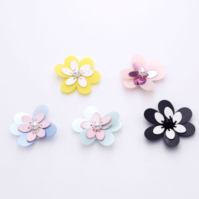 30mm Sew on Plastic Lovely Wedding Decor Flower Ribbon Applique Fabric  Embellishments Iron on Decorative Appliques Home Sewing 8ca98c0bc381