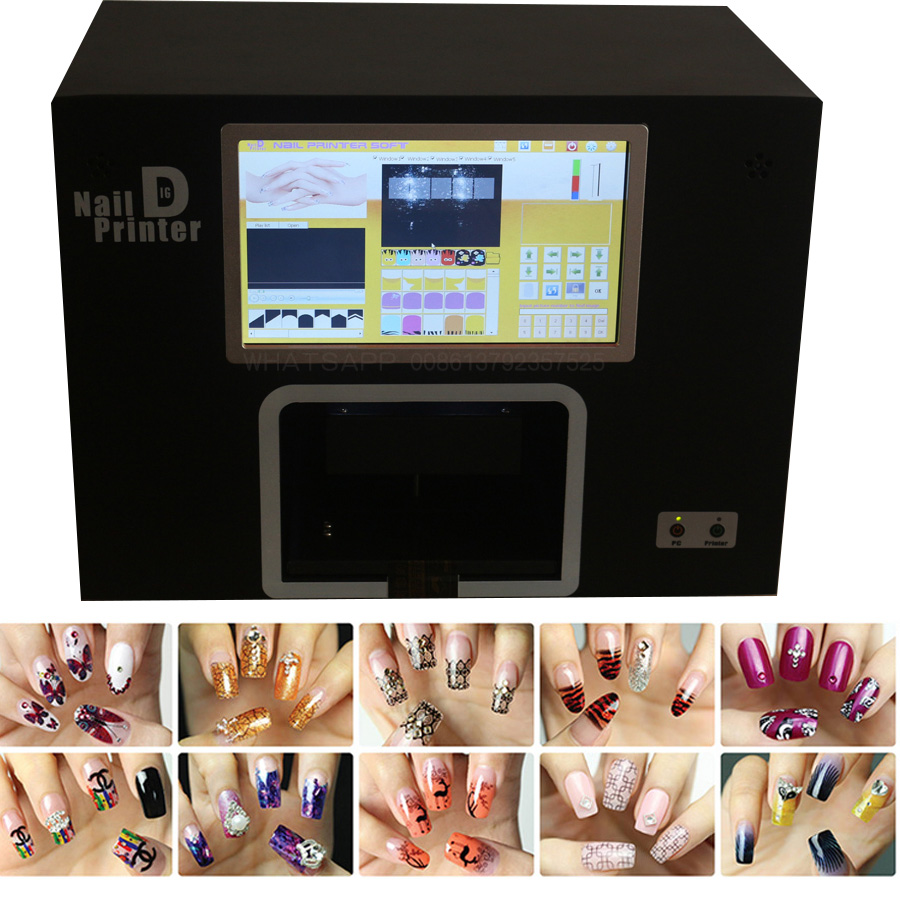 Real Nails Printer Machine with computer inside nail art tool nails painting