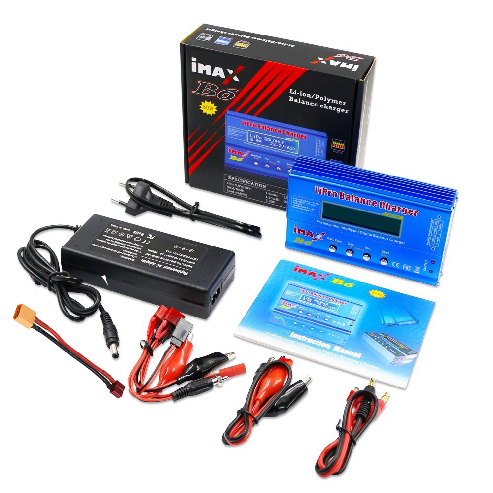 IMAX B6 Multi-function RC Nimh Nicd Lithium Battery Balance Lipo Battery Charger Balance Discharger With Digital LCD Screen