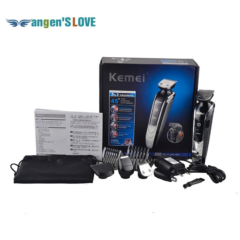KEMEI KM 1832 Professional Electric Hair Clipper Trimmer Titanium Blade Hairclipper Cutting Machine Shearer With Limit