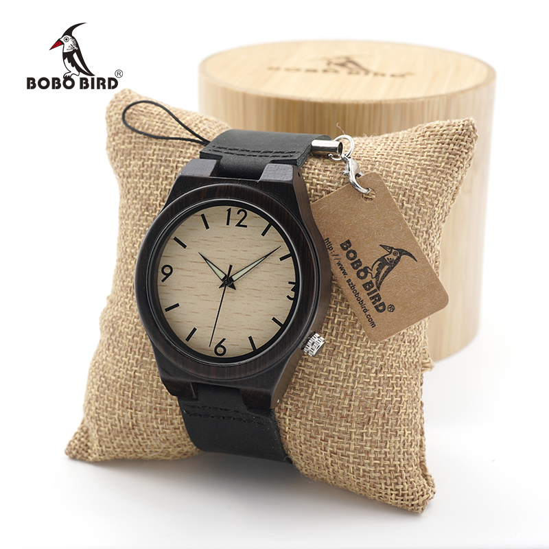 BOBO BIRD Men's Wood Bamboo Wristwatch Simple Unique Design Men Top Brand Wooden sport quartz Wrist Watches bobo bird v o29 top brand luxury women unique watch bamboo wooden fashion quartz watches