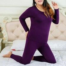 Термобелье размера плюс XL-6XL, женские подштанники, зимняя термо Одежда для девочек, Дамская пижама, термос, набор, стройнящий женский