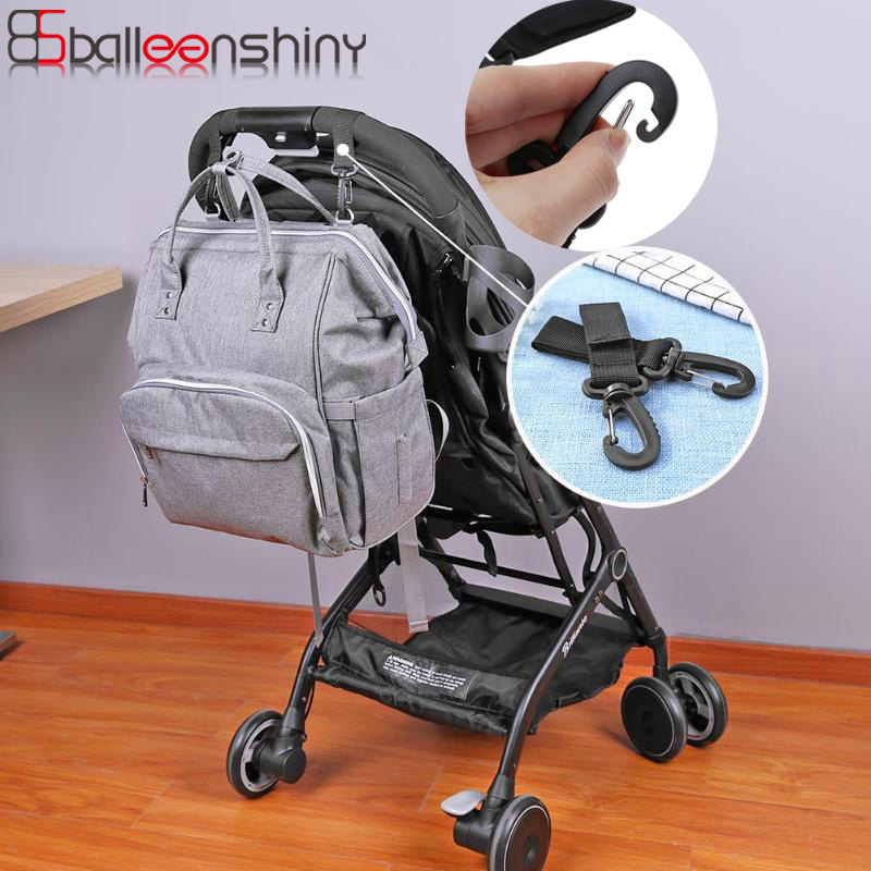 BalleenShiny Stroller Hook Wheelchair Stroller Pram Carriage Bag Hanger Hook Baby Strollers Diaper Bag Clip Stroller Accessories