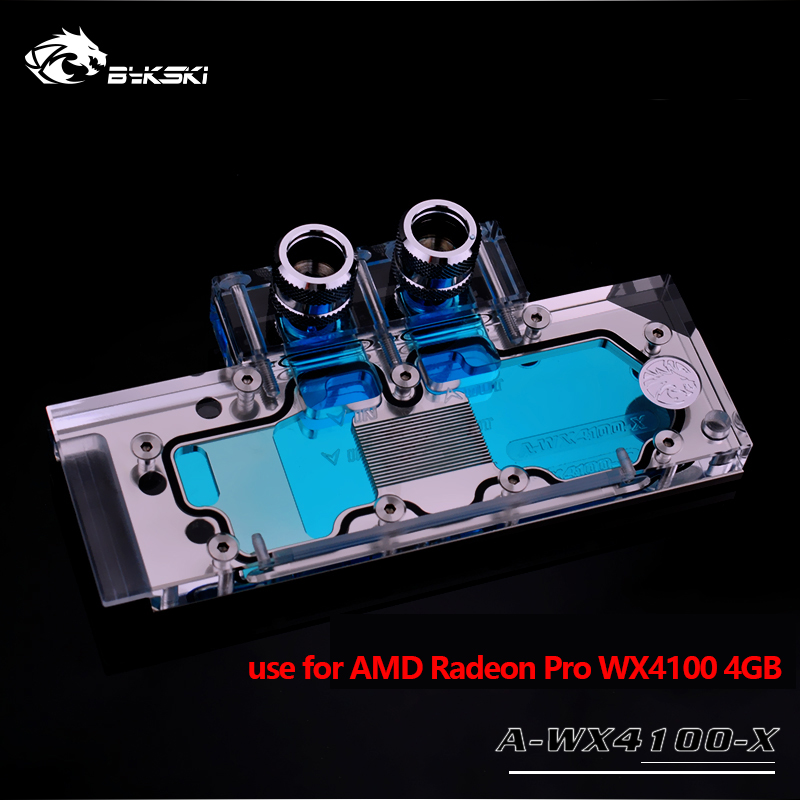 Bykski Water Block use for AMD Radeon Pro WX 4100 4GB / Graphics Card Copper Radiator Block 4PIN 12V RGB Light to AURA SYNC bykski water block use for gigabyte gv n98txtreme 6gd gv n98txtreme w 6gd full cover graphics card copper radiator block rgb