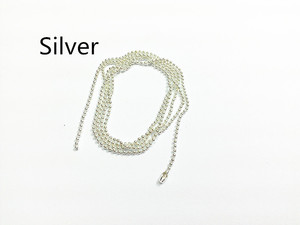 Image 1 - Wholesale !  Silvery Plated  70cm Long , 1.5mm  Beads Size ,  100pcs/lot   Ball Chain / Beads Chain Connector