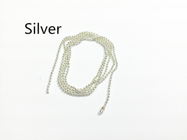 Wholesale !  Silvery Plated  70cm Long , 1.5mm  Beads Size ,  100pcs/lot   Ball Chain / Beads Chain Connector