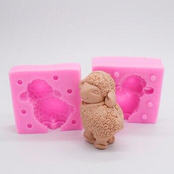 2018 новые 3D маленькие овечки силиконовые формы милые животные дизайнерские формы для гипса глина ремесло DIY бетонная форма полимерная глина ...