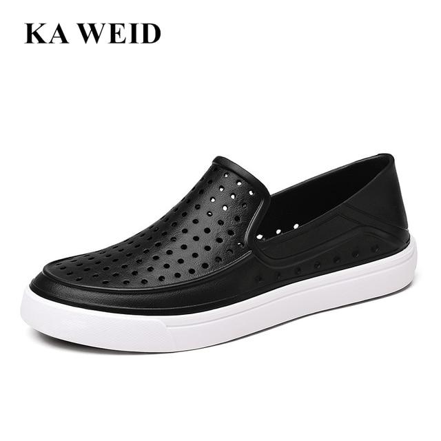 2017 Fashion Lovers Hole Shoe Men Fashion Jefferson Shoes Sandals Brand  Flat Casual Summer Shoes superstar shoes size 39-45 e29b6887ca7e