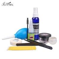 Profissionais Conjunto de Extensões Do Chicote C Onda Cílios Falsos Cola Ferramentas de Maquiagem Vison Eye lash Glue Remover Pinças Vara Escova Kit