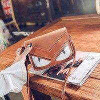 Fashion Little Monster Eye Shoulder Bag Cartoon Handbag For Girls Women Small Messenger Bags Mobile Phone