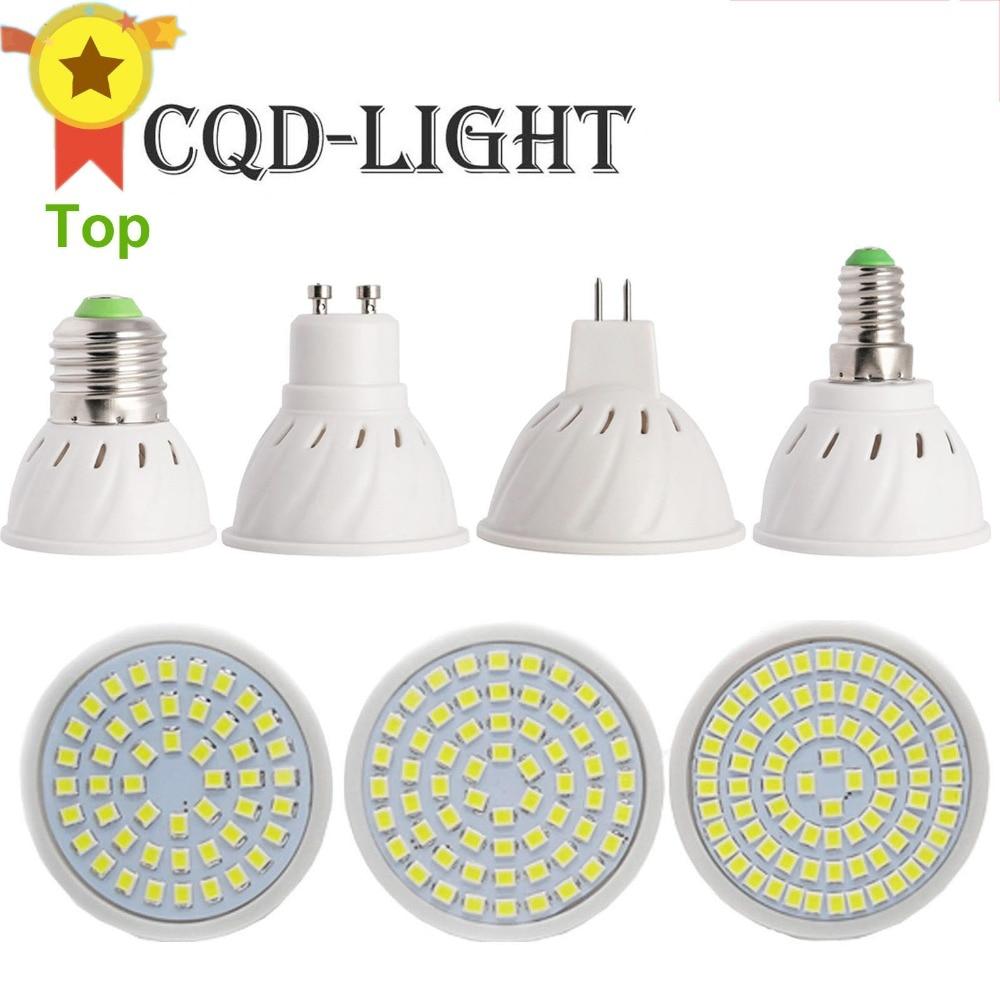 CQD-LIGHT Bright E27 E14 MR16 GU10 LED Bulb 110V 220V Bombils