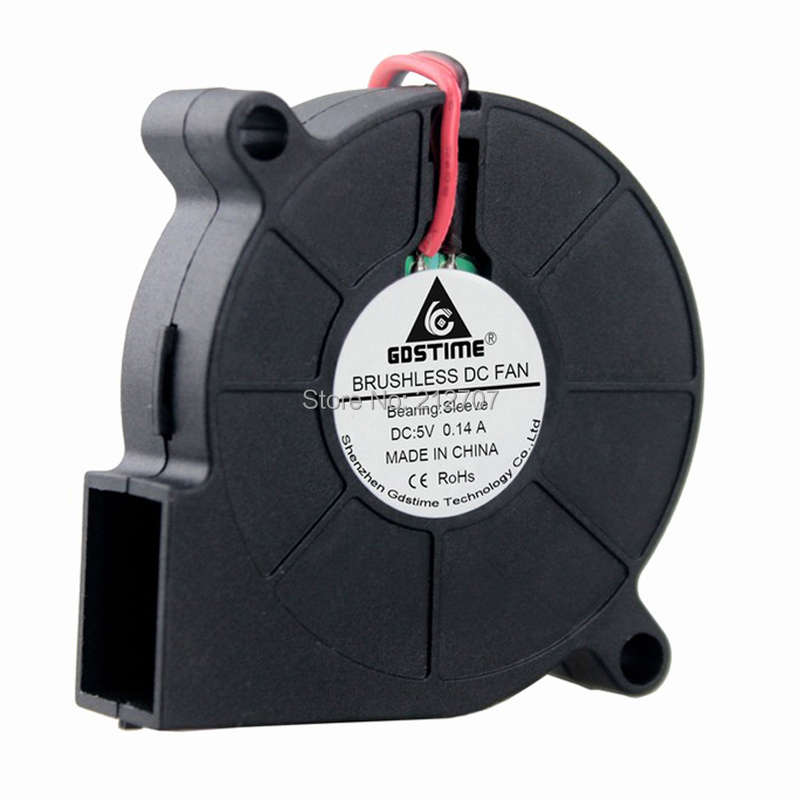 Brushless DC Cooling Blower Fan 12V 5015s 50x50x15mm 0.14A Sleeve-Bearing