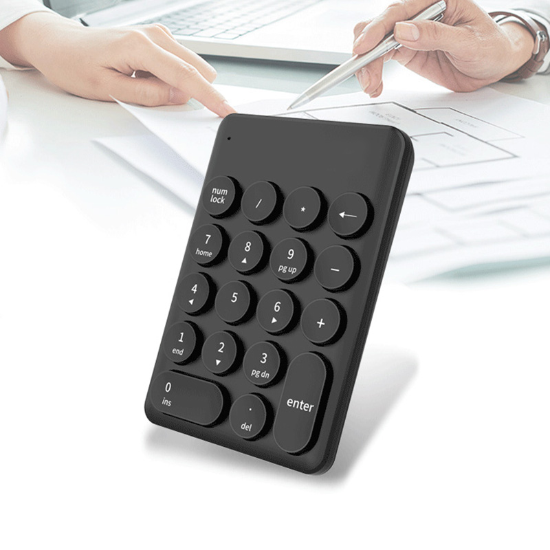Wireless Mini Keyboard And Mouse Keypad With 18 Round Keys For Laptop PC HJ55