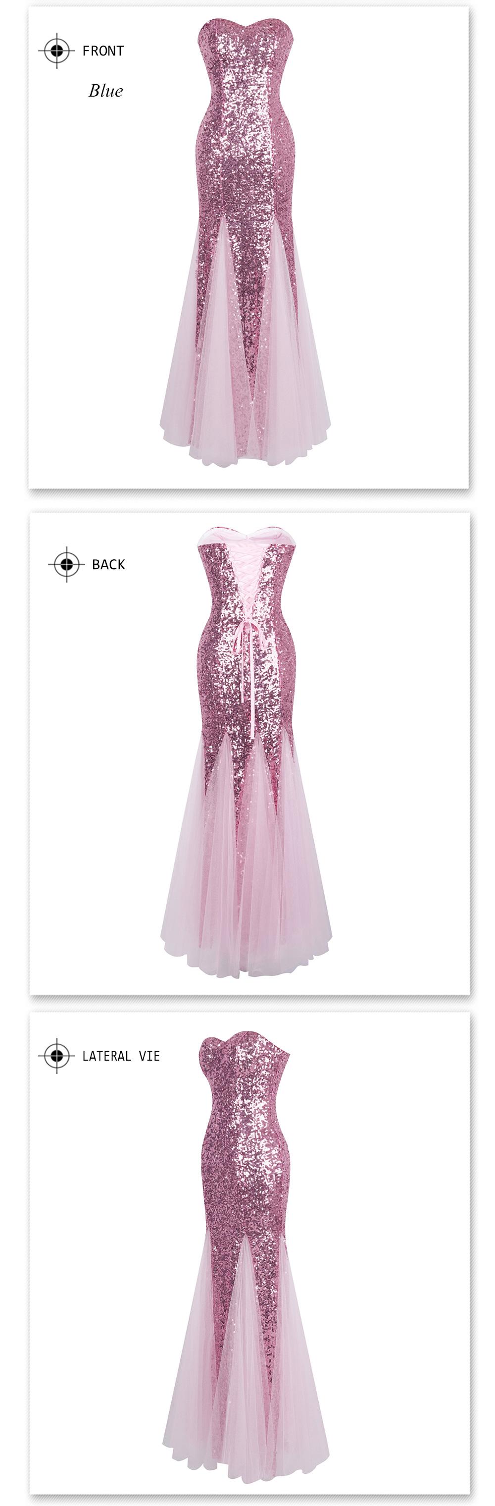 19c62de6b24 Angel-fashions Sequined Gradient Sash Hollow Out Celebrity Dress Long  Evening Dresses Blue 360 382USD 64.77 piece