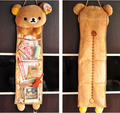 Super cute soft plush Rilakkuma long hanging storage bag toy,Kawaii hanging bag,creative home/family decor gift for girls, 1pc