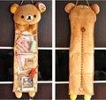 Super cute suave plush Rilakkuma longo pendurado saco de armazenamento de brinquedos, Kawaii saco pendurado, creative home/decoração família presente para as meninas, 1 pc