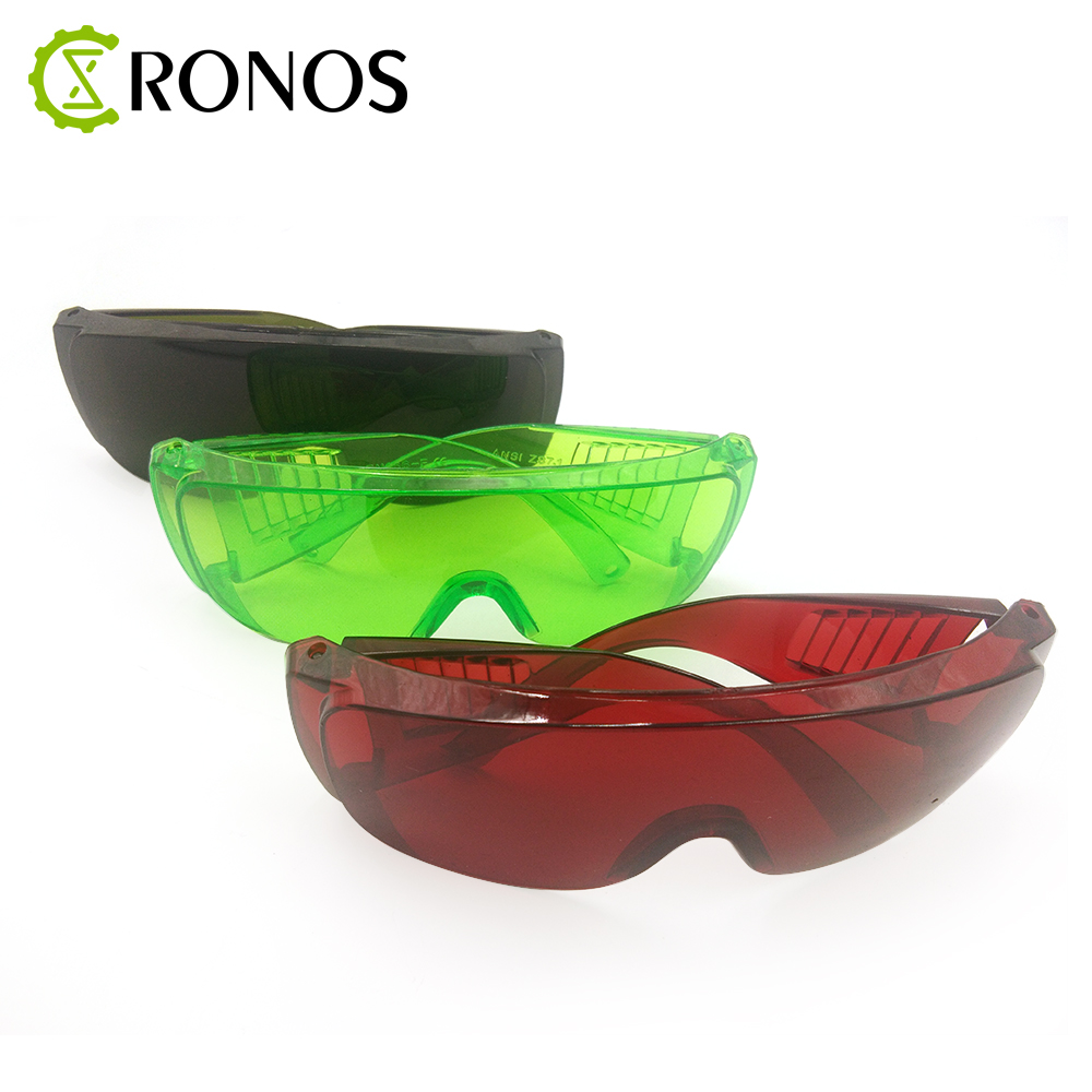 Free Shipping 1 Set Red/Green/Dark Green Goggles Laser Safety Glasses 190nm To 540nm Laser Protective Eyewear With Velvet Box