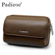 New Genuine Leather Waist Bag font b Men b font Leather font b Wallet b font