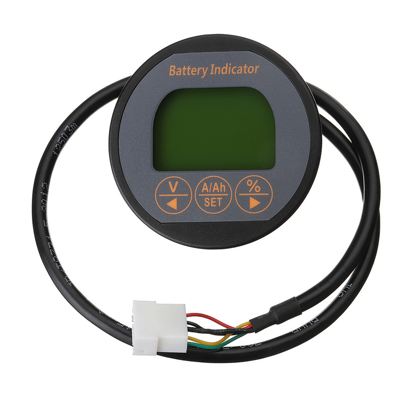 Battery Current Volt Meter 50A 80V Lithium LCD Digital Display Battery Capacity Tester Indicator Monitor With Night Vision 2016 new lithium battery battery capacity indicator lcd digital percentage residual capacity display